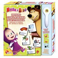 Imparo con la penna elettronica. Masha e Orso. Con gadget