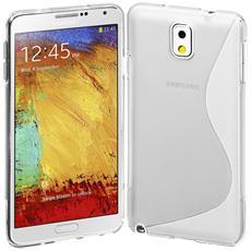 Cover S-Line Trasparente in Silicone per Samsung Galaxy Note 3