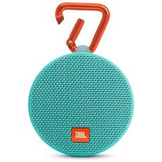 Speaker Audio Portatile Clip 2 Bluetooth Impermeabile colore Azzurro
