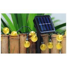 Set Da 2 Luci Da Giardino Con Pannello Ad Energia Solare