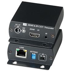Extender Transceiver Trasmette Il Segnale Hdmi E Ir Su Cat5e Per Uso A Medie Distanze.