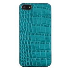 Custodia in Pelle per iPhone 5/5s - Croco Blue