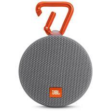 Speaker Audio Portatile Clip 2 Bluetooth Impermeabile colore Grigio