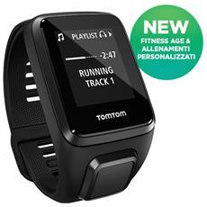 Spark 3 Cardio + Music Bt Orologio GPS fitness Taglia S Activity Tracker Multisport con esplorazione del percorso, sensore cardiofrequenzimetro e lettore musicale - Nero