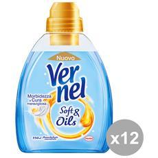 Set 12 Ammorbidente Concentrato Soft&oil Blu 750 Ml. Detergenti Casa