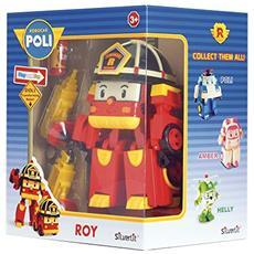 Robocar Poli - Roy - Robot Trasformabile Con Luci 13 Cm