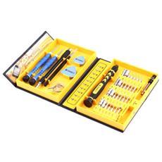 Kit 38 Pezzi Attrezzi 1252 Cacciavite Per Smontaggio Montaggio Riparazione Vetro Cellulari Smartphone Antiscivolo