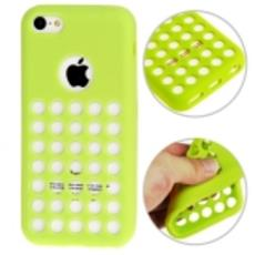 Hollow Dot Custodia in TPU per iPhone 5C, Verde