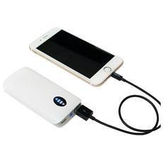 PA0126, Ioni di Litio, USB, Grigio, Bianco, USB, Universale, Sovraccarico, Overcharge, Cortocircuito