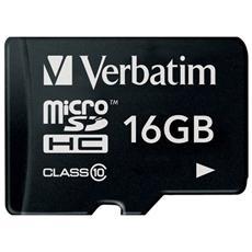 MicroSDHC 16GB Class 10+ Adattatore