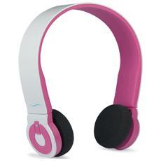 Cuffie Wireless con Microfono HI-EDO Bluetooth Colore Bianco / Rosa