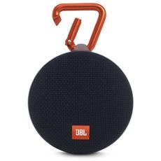 Speaker Audio Portatile Clip 2 Bluetooth Impermeabile colore Nero