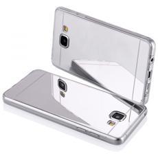 Cover Mirror In Silicone Per Samsung Galaxy A3 A310 Con Back Cover A Specchio Silver Argento