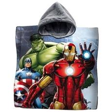 Accappatoio Poncho Asciugamano Cotone Avengers Capitan America Iron Man Hulk Mare Bambini