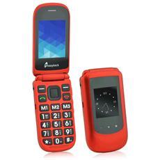 T119 Cellulare Senior Colore Rosso Chiusura Flip con doppio display Bluetooth SOS Tasti Grandi e Parlanti RICONDIZIONATO
