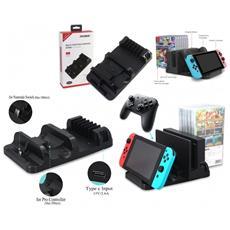 Base Ricarica Multifunzione Charging Stand Supporto Console 6 Joy-con Nintendo