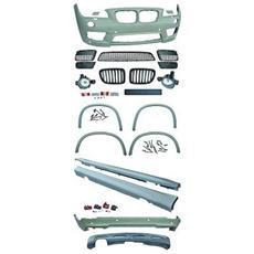 Kit estetico paraurti Minigonne passaruota arco archetto Tuning sportivi BMW X1 Serie E84 2009-2012 Look M-Technik per sensori per lavafari