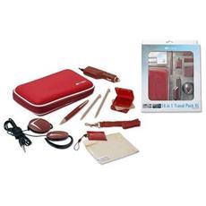 Kit Travel Pack Rosso Per Nintendo Ds Xl Custodia E Altri Accessori