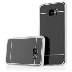 Cover Mirror In Silicone Per Samsung Galaxy A3 A310 Con Back Cover A Specchio Nero Black
