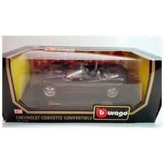 Modellino Auto - - Chevrolet Corvette Convertible 1998 - Nero - Scala 1:24