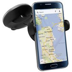 Supporto Universale da Auto per Smartphone fino a 5.5'' Colore Nero