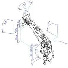 LCD Monitor Arm Pneumatic, Wall Mount or Desk Clamp