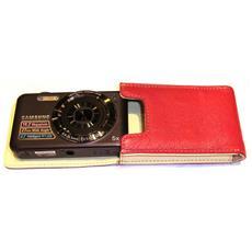 Custodia per Fotocamera Compatta in Cuoio Rosso 11005-2