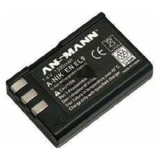 Batteria Ricaricabile A-Nik EN EL9 per Fotocamera Digitale Nera Litio-Ion 1300 mAh 7.4 V 5044133/05