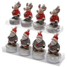 Tea Light a Forma di Figure di Natale Set Da Quattro Candele