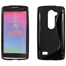 Cover S-Line Nero in silicone per LG Leon