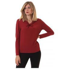 Chemise Ml Collo Moda In Jersey Camicia Manica Lunga Donna Taglia 6