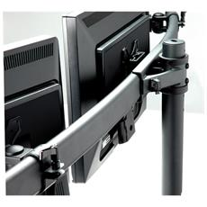 Triple LCD Arm, Desk Clamp, black