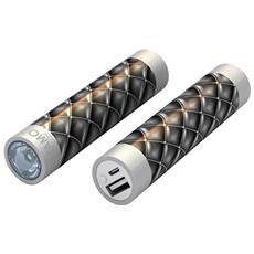 STIK22-BLKLTR, Ioni di Litio, USB, Nero, Argento, Universale