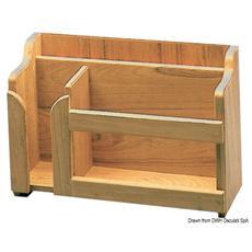 Porta piatti teak 395x152x282 mm