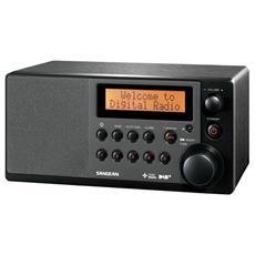 Radio da Tavolo con Cabinet Legno Nero 24 x 18x 11 cm DDR31-EU