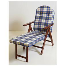 Sedia poltrona relax sdraio amalfi legno noce 4 posizioni poggiapiedi estraibile
