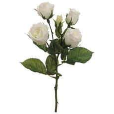 50 Fiori Artificiali Seta Mazzo Di 5 Rose Bianche Finte Decorazione Festa Matrimonio Piccolo