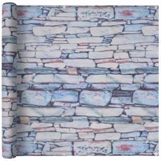 Paravento Da Balcone Tessuto Oxford 90x600cm Stampa Muro Pietra
