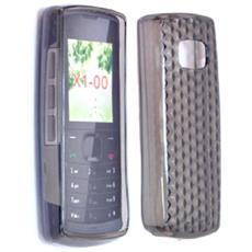 Silicone Case Nokia X1-00 - X1-01 Nero Prisma