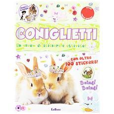 Coniglietti. Un album di stickers e attività. Con adesivi