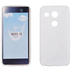 Cover S-Line in silicone Bianco per LG Google Nexus 5X