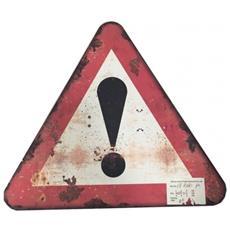 Cartello Segnale Stradale Pericolo Triangolo Mdf Rosso Nero
