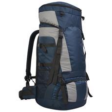 Zaino Da Escursioni Con Parapioggia Xxl 75 L Blu