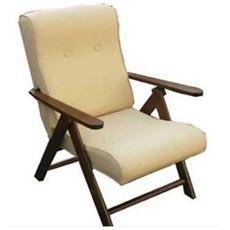 Poltrona Relax Molisana Ecopelle sdraio imbottita reclinabile e regolabile 4 posizioni
