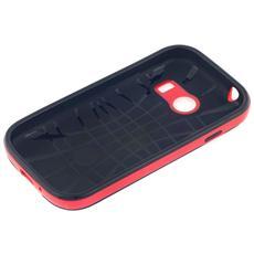 Cover Per Iphone 5/5s Retro Nero Antiscivolo Bordo Rosso Hybrid Alta Qualità