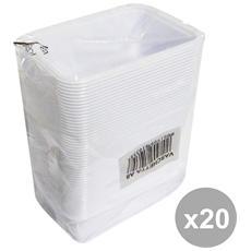 Set 20 Vaschette Plastica X 50 Pezzi 90x125x45 Mm. Contenitori Per La Cucina