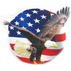 a forma di cuscino 'america' aquila noi bandiera - [ m9612]