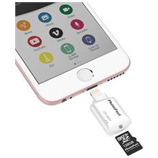 CR8800W Lettore micro SD per Iphone / Ipad / Ipod colore bianco