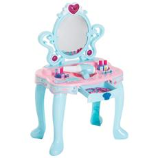 Specchiera Giocattolo Per Bambine Dimensioni 43,5x31,5x72,5cm Colore Verde Chiaro E Rosa