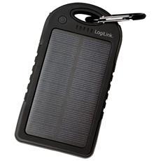 PA0132, Polimeri di litio (LiPo) , Solare, USB, Nero, Micro-USB, Acrilonitrile butadiene stirene (ABS) , Policarbonato, Universale